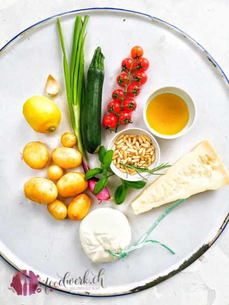 Zutaten für den Grill Kartoffel Salat