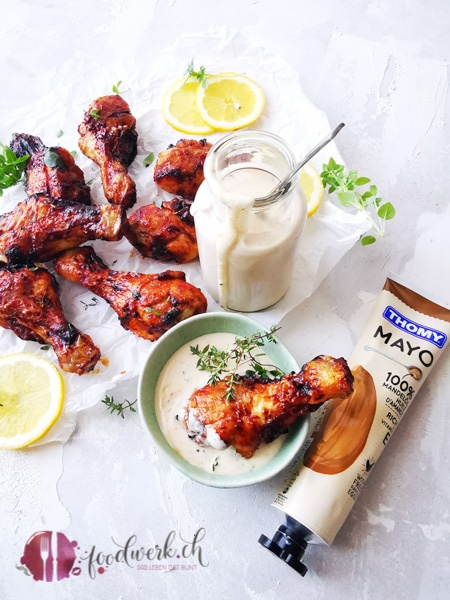 White BBQ Sauce mit THOMY Mayonnaise mit Mandelöl