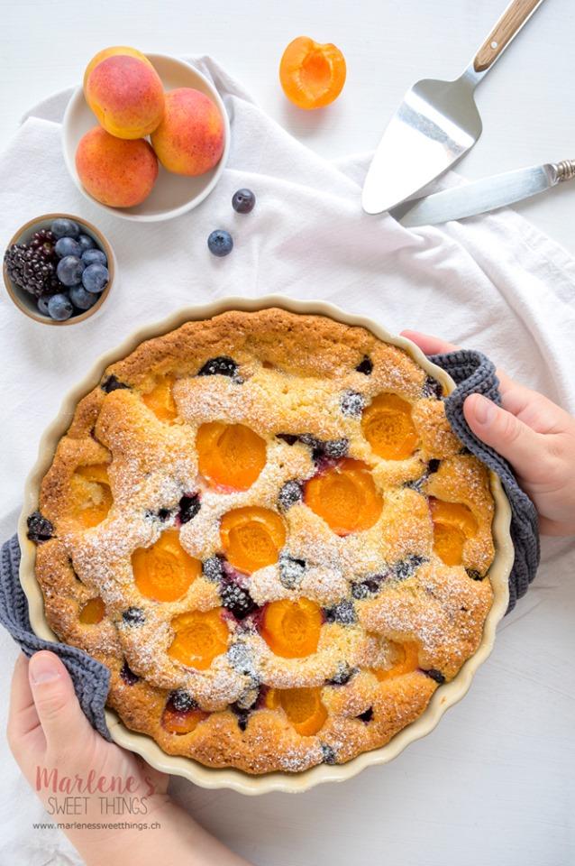 Marlenes Sweet things Schneller Aprikosen Kuchen