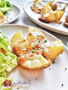 Kartoffel Lorraine, gefüllt mit Käse und Speck