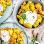 Knsuprige Kartoffeln mit Dip