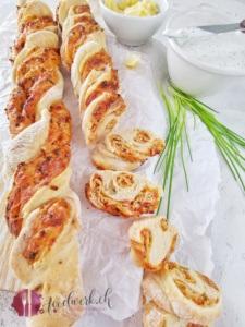 Apero Twist Brot mit Schnittlauch und Dinkel