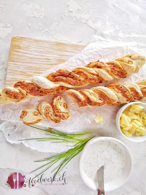 Dinkel und Schnitlauch Twist Brot