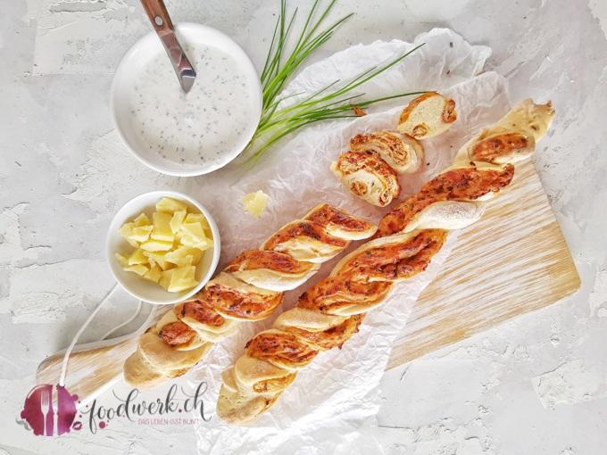 Schnittlauch und Dinkel Twist Brot