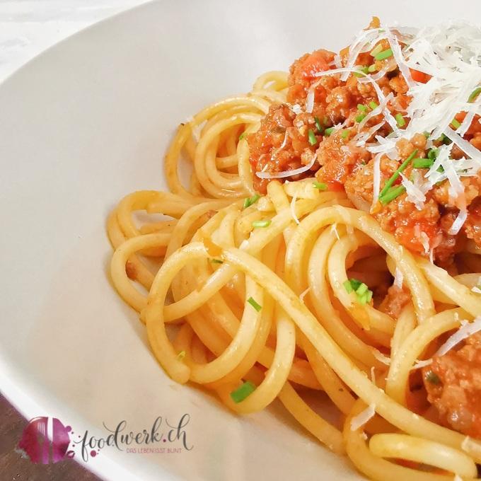 Spaghetti Sbrinzeregg ganz nah