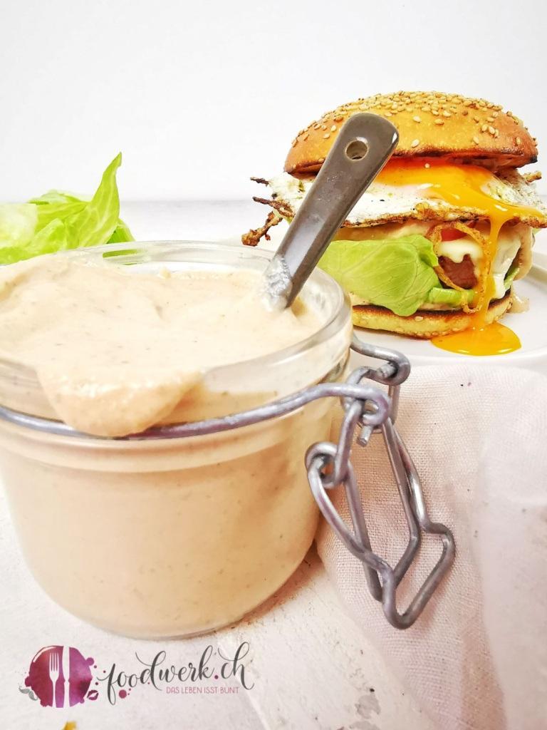 Beste Burger Sauce mit noch einfacherer Zubereitung