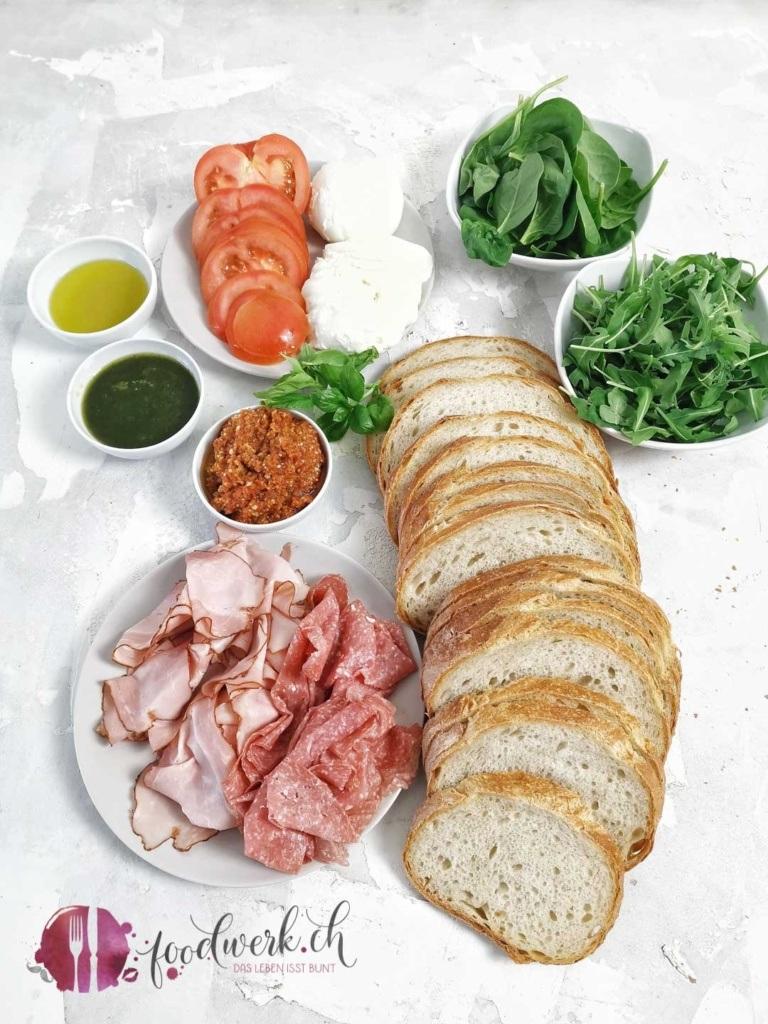 Grill Sandwich Zutaten