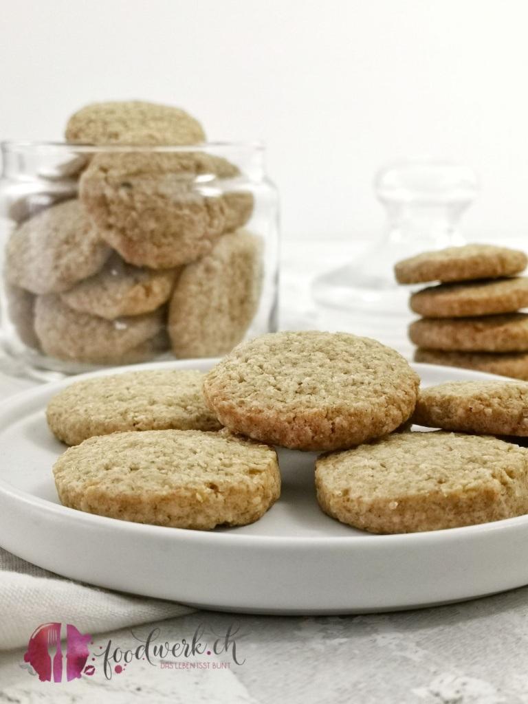 Kekse mit Haferflocken und