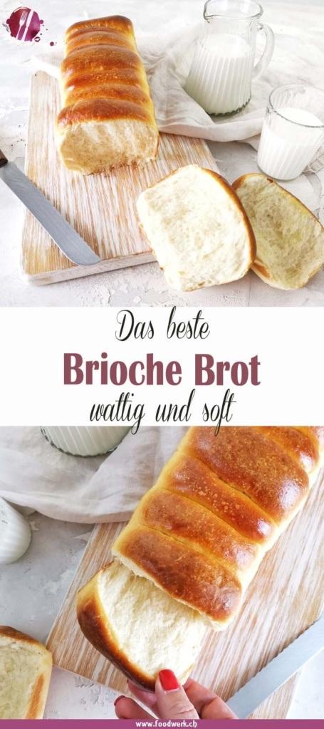 Pinterest Pin für das beste Brioche Brot Rezept