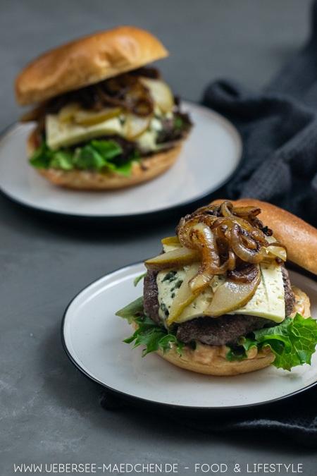 Burger mit Birne und GorgonzolaRezept von UeberSee Maedchen Foodblog vom Bodensee Konstanz 62