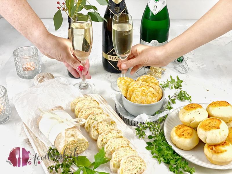 Fingerfood Snacks mit Rimuss Bianco Dry und Rimuss Champion Bio