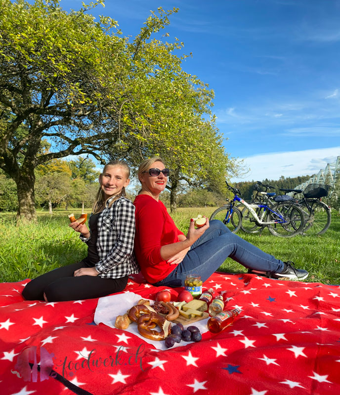 Picknick auf der Radtour
