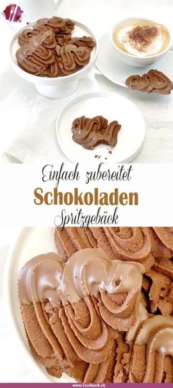 Spritzgebäck mit Schokolade Pinterest Pin von foodwerk.ch