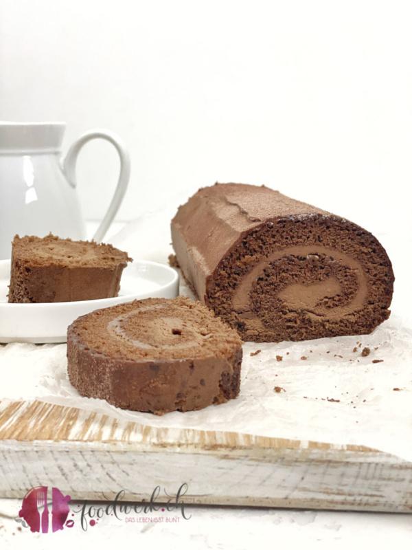 Schokoladen Biskuit Roulade