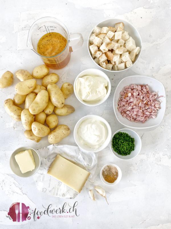 Zutaten für die Spanischen Kartoffeln nach foodwerk Art