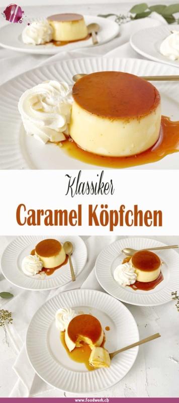 Pinterest Pin für Caramel Köpfchen oder Karamel Flan
