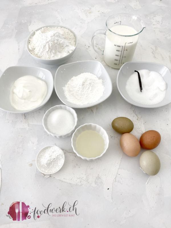 Zutaten für die Vanille Nestchen von Liv