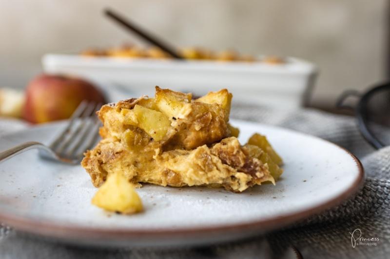 Apfel Brot Pudding Scheiterhaufen - Princess.ch