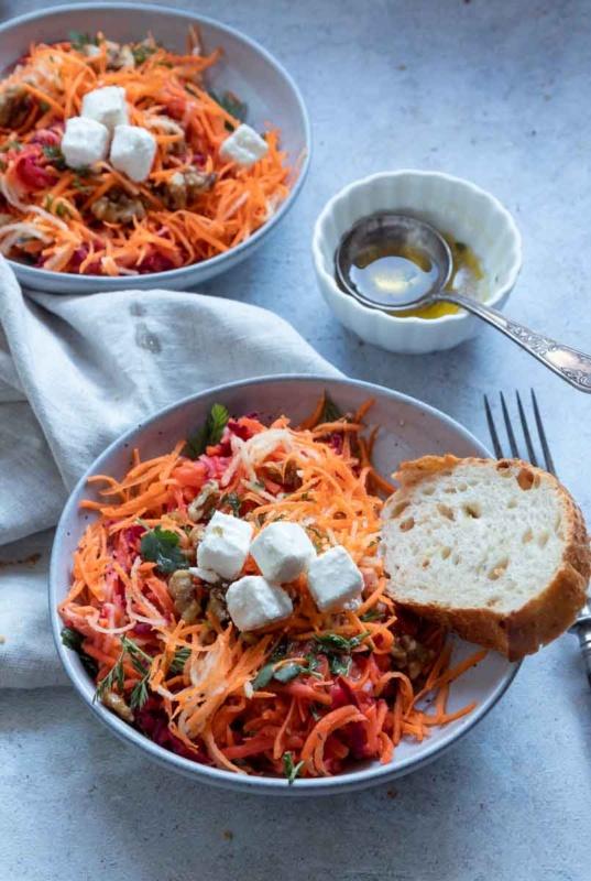 Rezept Karottensalat mit Apfel Naschen mit der Erdbeerqueen