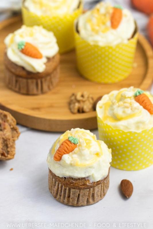 Ruebli Muffins mit Frischkaese Topping Ruebli Cupcakes Rezept10