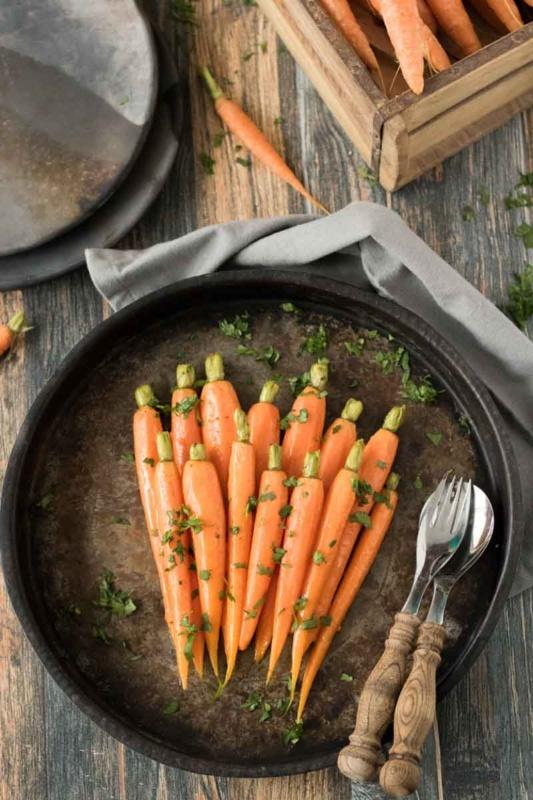 glasierte moehren rezept vegetarische beilage karotten heute gibt es 1