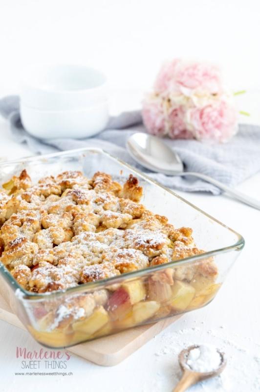 Rhabarber Apfel Crumble Marlenes sweet things