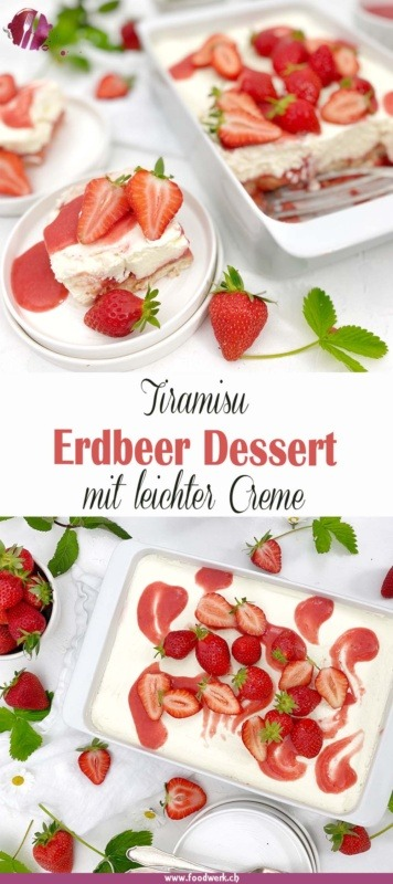 Erdbeer Dessert Tiramisu Pin für pinterest
