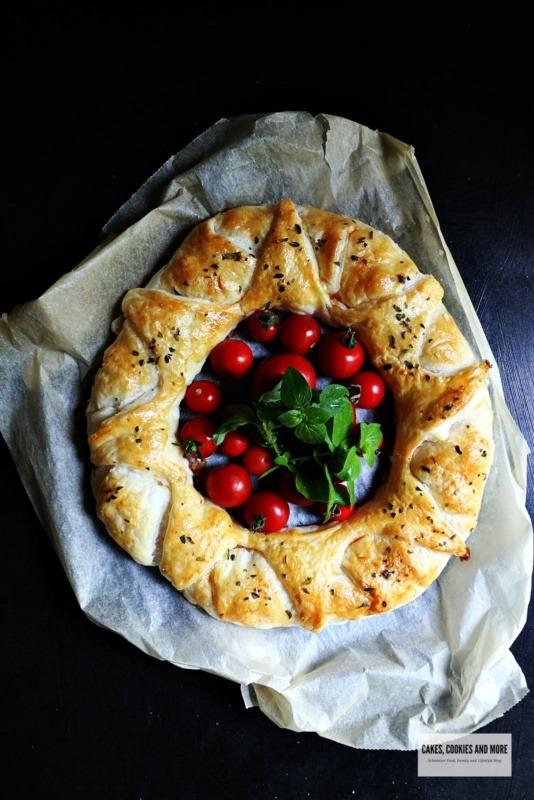 Blätterteigkranz mit Tomaten und Zucchetti von Cakes cookies and more