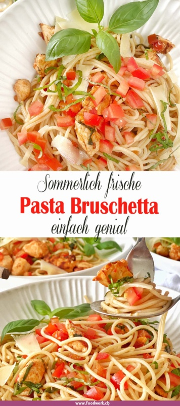 SPaghetti Bruschetta Pinterest Pin