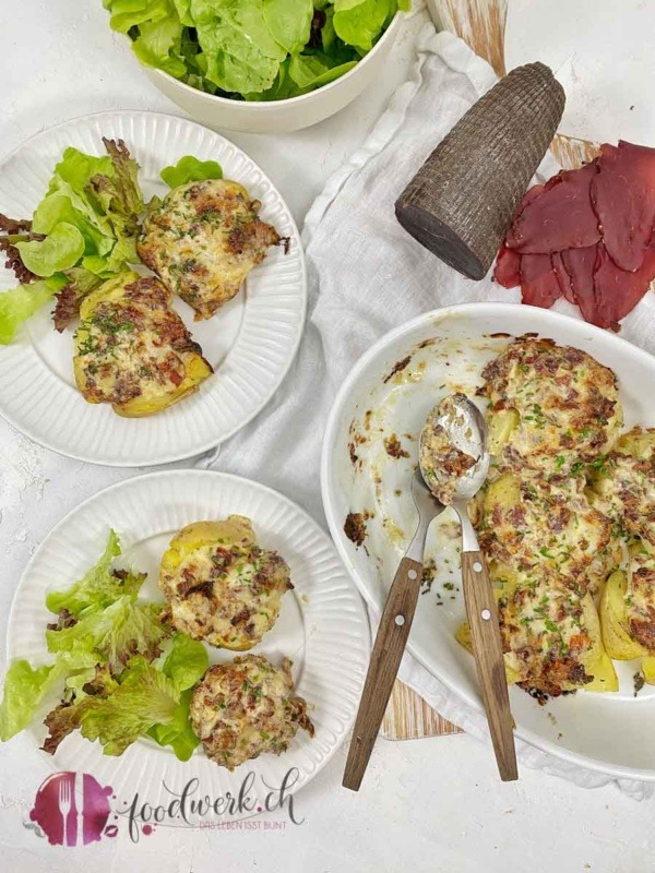 Appenzeller Quetschkartoffeln mit Appenzeller Mostbröckli IGP