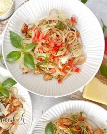 SPaghetti Bruschetta