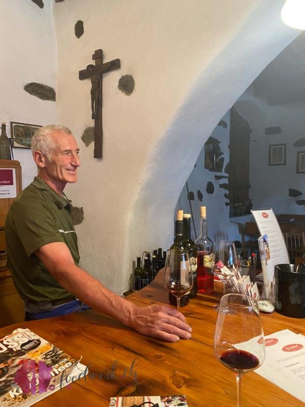 Andreas Menz der Besitzer und Kellermeister vom Popphof