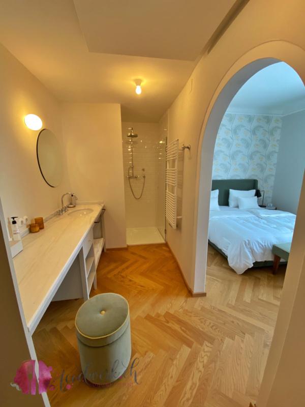Badezimmer in der Villa Arnica