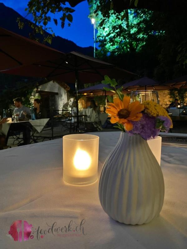 Abendstimmung im SChlosswirt Forst Garten