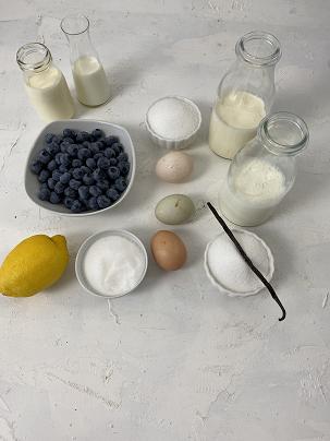 Zutaten für die Vacherin Eistorte