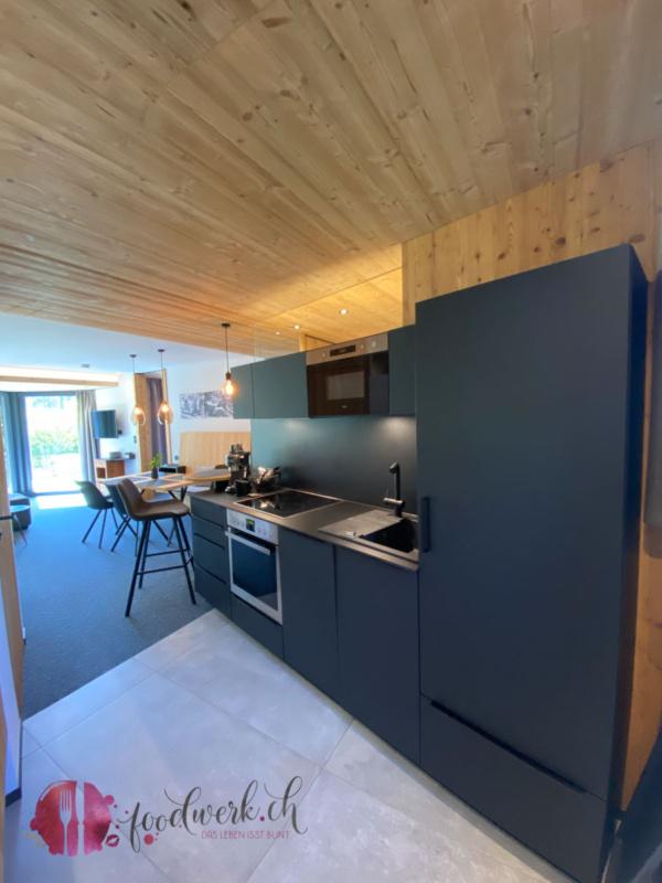 Voll ausgestattete Küche im Appartement