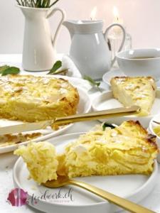 Lenzburger Landfrauenkuchen mit Äpfeln und Mandeln