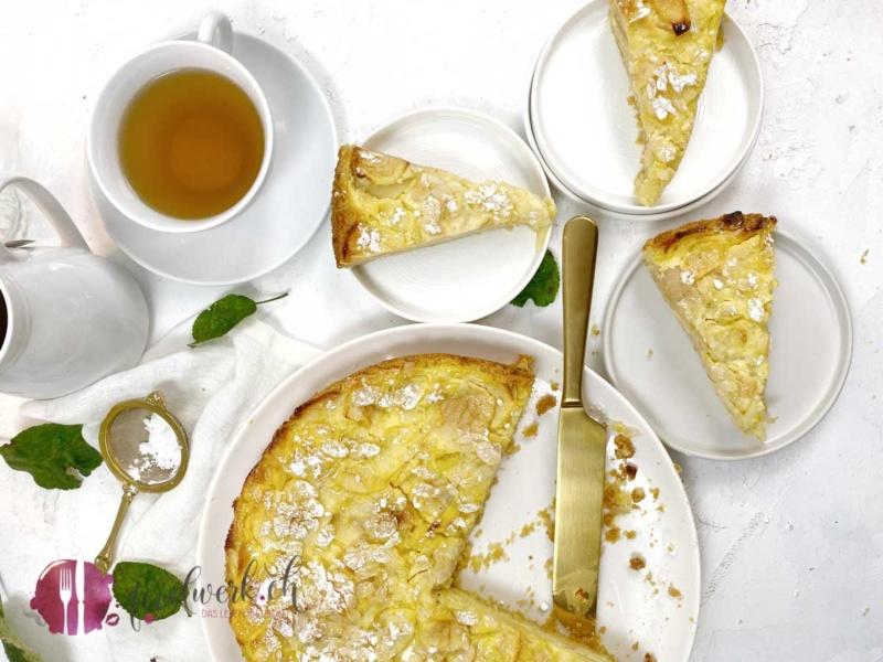 Lenzburger Landfrauenkuchen mit Apfel und Mandel