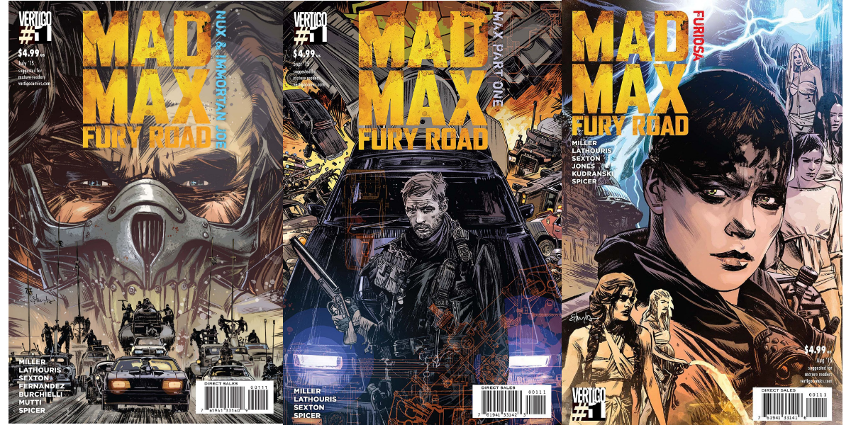 mad max comic covers