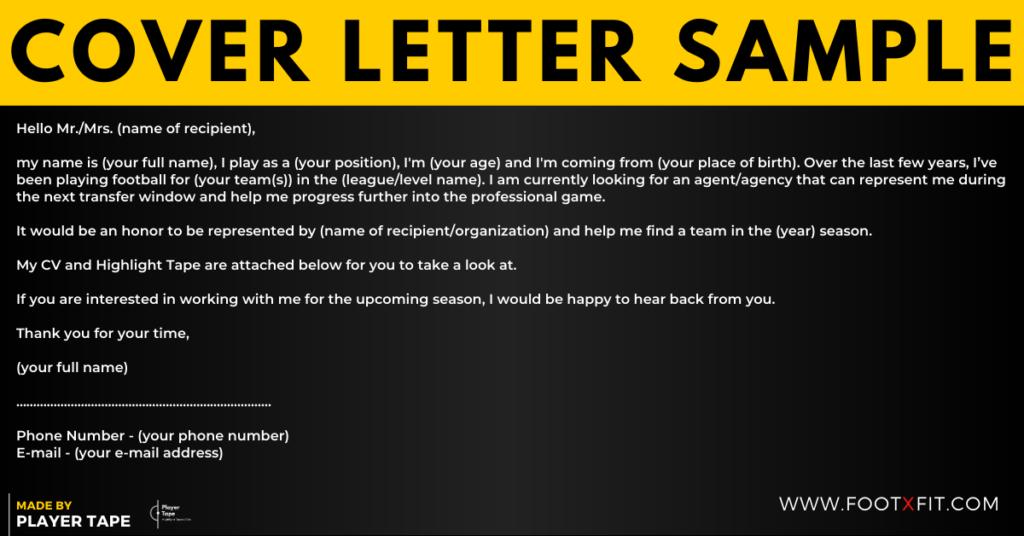 football cover letter sample