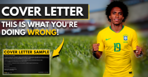 football cover letter - this is what you're doing wrong!