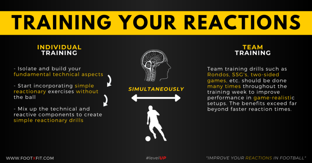 how to improve your reactions in football