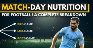 match-day nutrition for football - a complete breakdown