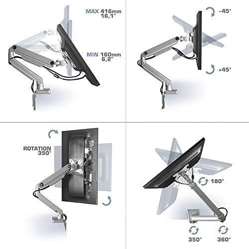ONKRON Dual monitor Desk mount MS160-slv