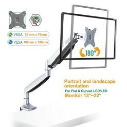 ONKRON G100-SLV Desk Monitor mount