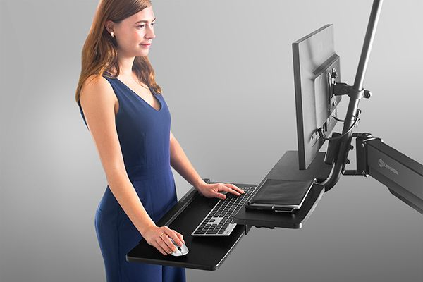 Healthy work habits with Onkron sit-stand workstation