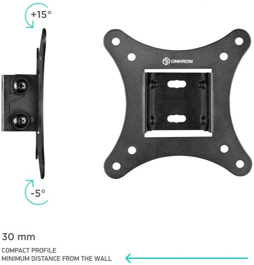 "ONKRON TV Wall Bracket For 10""-27"" up to 20 kg SN31 Black"