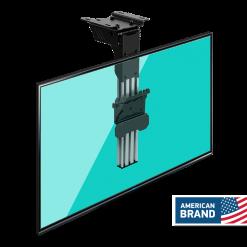 ONKRON Ceiling TV Bracket Folding Mount For 10″- 40 inch up to 30 kg Tilt Swivel CR1S Black