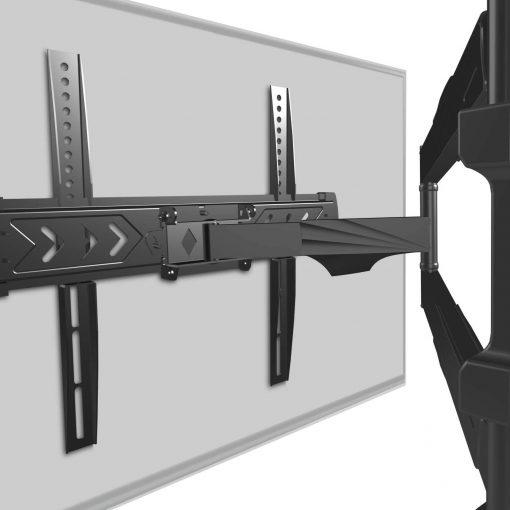 ONKRON Full Motion TV Wall Mount Bracket for 40 to 75 Inch - NP47 Black
