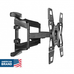 ONKRON TV Mount Tilt Swivel Wall Bracket for 32 to 60-Inch LED LCD Flat Panel TVs M15 Black